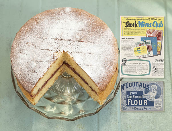 Superb sponge cake made with soft margarine