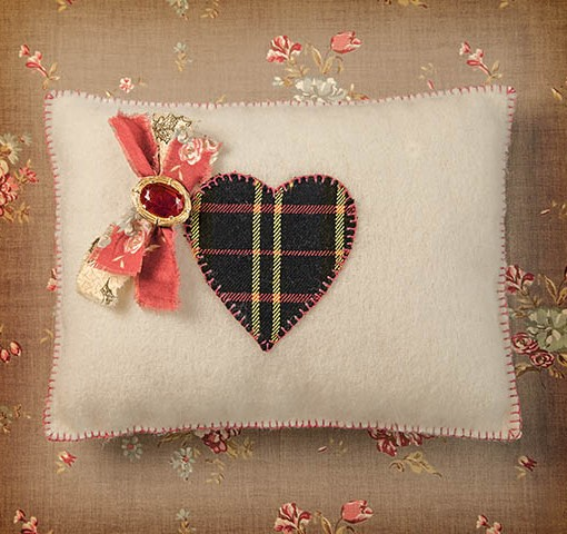 Make this tartan heart cushion