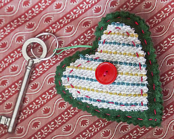HeartKeyfobfabric