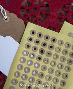 Reinforcement Circular Kraft Stickers