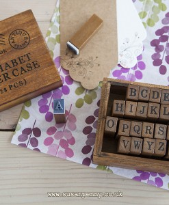 Schoolbook Rubber Stamp Set Contains 28 Upper Case Letter and Characters.
