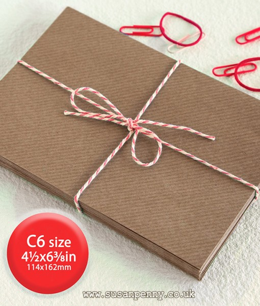 Ribbed brown Kraft envelope